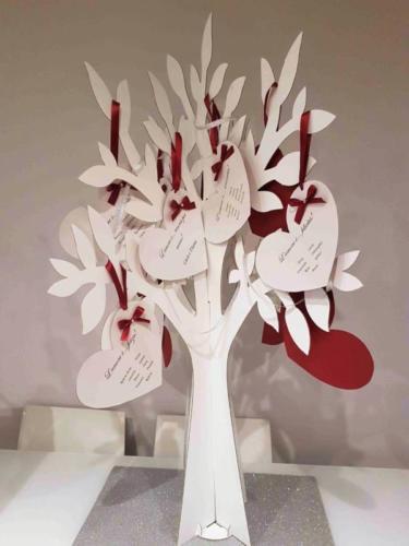 TABLEAU MARIAGE MATRIMONIO ALBERO CUORI 3